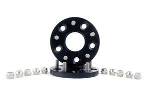 ES#2731067 - 3065666SW - H&R DRM Series Wheel Spacers - 15mm (1 Pair) - Black - 5x114.3, 66CB, for studs M12x1.25mm - H&R -