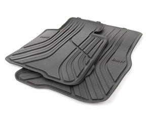 ES#2706806 - 51472348155 - Basic Line Rubber Floor Mat Set - Front - Protects your floor and carpet from moisture - Genuine BMW - BMW