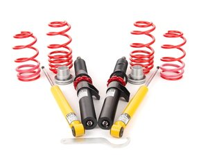 "ES#9551 - 39220-1 - Premium Performance Coilover Kit - Ultra lightweight aluminum performance kit. Average lowering of 1.2""-2.3""F 1.0""-2.0""R - H&R - Audi"