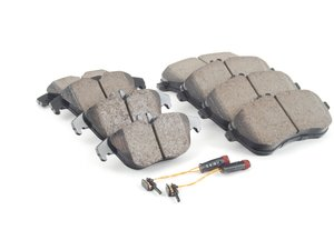 ES#2763721 - 0054201220KT4 - Front & Rear Brake Pad Kit - Featuring Akebono-Euro Ceramic Pads - Assembled By ECS - Mercedes Benz