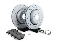 ES#2712823 - 34112283802KT1 - Performance Front Brake Service Kit - Featuring OEM Zimmermann rotors and Hawk HPS pads - Assembled By ECS - BMW