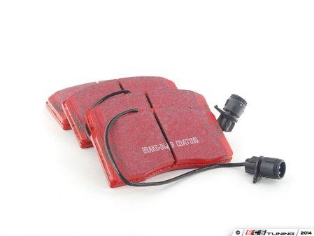 ES#520320 - DP31327C - Front RedStuff Performance Brake Pad Set - High performance street pad featuring Kevlar technology, includes wear sensors - EBC - Audi