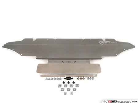 ES#2771912 - 003251ECS01AKT2 - ECS Tuning Street Shield Aluminum Skid Plate Kit - Protect your vehicle's oil pan & electronic steering rack with this 4mm thick aluminum skid plate - ECS - Audi