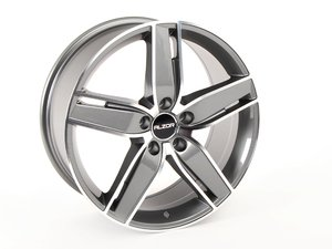 """ES#2749141 - 656-1 - 18"""" Style 656 Wheel - Priced Each (Only 1 Available) - 18x8, ET35, 5x112, 66.5CB- Gunmetal/Machined Face - Alzor - Audi Volkswagen"""