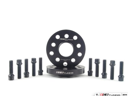 ES#2748197 - ECS10159KTWB1 - ECS Wheel Spacer & Bolt Kit - 20mm With Black Ball Seat Bolts - Exclusively built for your 57.1mm centerbore VW/Audi &