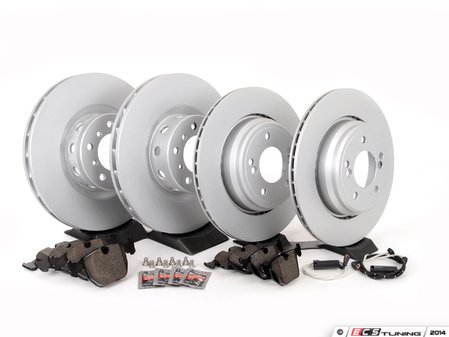 ES#2598468 - ECSE39341121-KT7 - Front And Rear Brake Service Kit - Featuring Meyle rotors and Akebono Euro Ceramic pads - Assembled By ECS - BMW