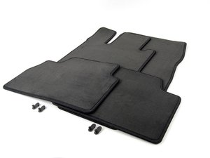 ES#1823011 - 67681101 - Carpeted Floor Mat Set - Anthracite - Velour With Mercedes-Benz Logo - Genuine Mercedes Benz - Mercedes Benz