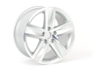 """ES#2522372 - 3C8601025Q8Z8 - 17"""" Kent - Priced Each  - 17""""x8 ET41 5x112 - Diamond Silver - Genuine Volkswagen Audi - Volkswagen"""