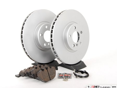 ES#205333 - ECSE533411-3 - Front Brake Service Kit - Featuring Meyle Rotors and Textar Brake Pads - Assembled By ECS - BMW