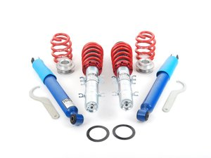 "ES#2642213 - 54730 - Street Performance Coilover Kit - Fixed Dampening - Height Adjustable from 1.2"" to 2.2"" front and 1.0"" to 2.3"" rear - H&R - Volkswagen"