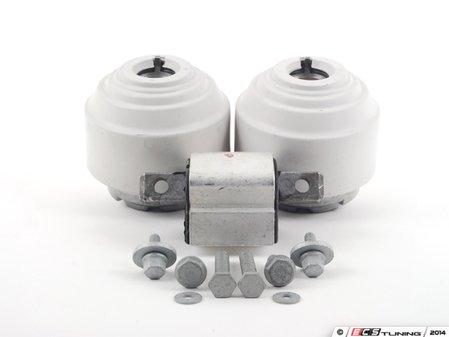 ES#2763481 - 2112402617KT1 - Drivetrain Mount Kit - Includes both Lemforder engine mounts and Lemforder transmission mount with hardware - Assembled By ECS - Mercedes Benz