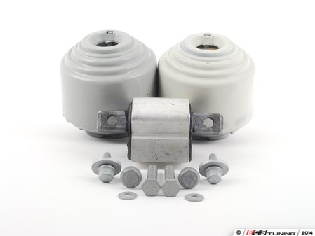 ES#2763482 - 2112402617KT2 - Drivetrain Mount Kit - Includes both Corteco engine mounts and Corteco transmission mount with hardware - Assembled By ECS - Mercedes Benz