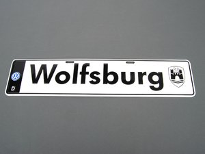 ES#2137714 - DRG019971 - Wolfsburg Euro Plate  - Will look great on the front of your car or hanging on the wall - Genuine Volkswagen Audi - Volkswagen