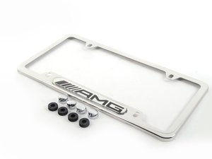 ES#1829254 - Q6880087 - License Plate Frame - AMG License Plate Frame (Polished Stainless Steel) - Genuine Mercedes Benz - Mercedes Benz