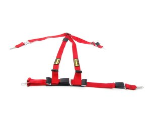 ES#2771862 - SR16152-56 - Quick Fit Harness - Red - Left - A DOT approved harness that utilizes factory attachment points - Schroth - MINI