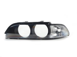 """ES#2738377 - 63128375301 - Headlight Lens Cover - Left - Eliminate the """"sand-blasted"""" look of high mileage headlight. Features clear corner marker. - Bremmen Parts - BMW"""