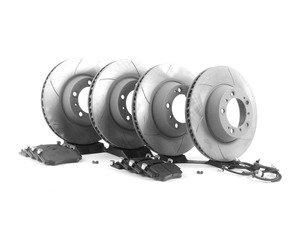 ES#2598694 - 99635140904PEKT3 - Performance Front & Rear Brake Service Kit - Featuring Sebro slotted rotors and Hawk HPS brake pads - Assembled By ECS - Porsche