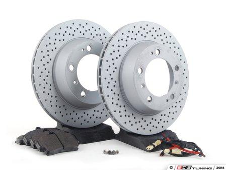 ES#2594674 - 99635140501RPKT - Performance Rear Brake Service Kit - Featuring Zimmerman rotors and Hawk HPS brake pads - Assembled By ECS - Porsche