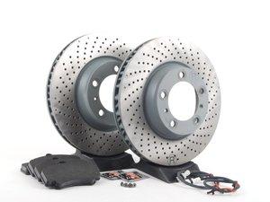 ES#2598689 - 99635140904FOKT3 - Front Brake Service Kit - Featuring Sebro rotors and Textar brake pads - Assembled By ECS - Porsche