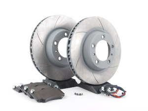 ES#2598692 - 99635140904FPKT3 - Performance Front Brake Service Kit - Featuring Sebro slotted rotors and Hawk HPS brake pads - Assembled By ECS - Porsche