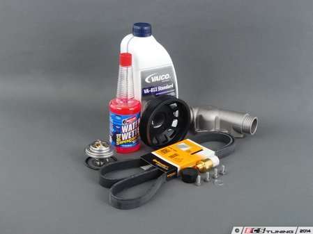 ES#2739354 - E36FNDU2KT -  Ultimate Fan Delete Kit  - Free up some extra horsepower by deleting your fan - with upgraded aluminum thermostat housing, fan delete nut and ECS Aluminum Water Pump Pulley - Assembled By ECS - BMW