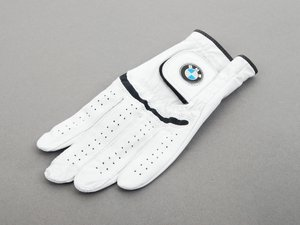 ES#190299 - 80160435720 - Men'S Leather Golf Glove - Left Medium  - Top grade leather glove - Genuine BMW - BMW
