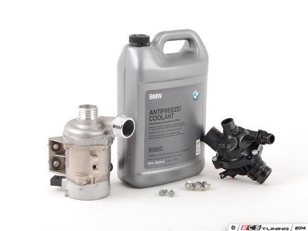 ES#2777338 - 11517586925KT5 - Water Pump And Thermostat Kit - Includes everything you need to replace your water pump and thermostat. Featuring high-quality, German-made water pump and thermostat. - Assembled By ECS - BMW