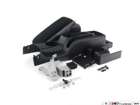 ES#2602503 - 1J0863323AC2QLKT - Complete Center Console Conversion Kit - Black Cloth - Includes the updated three cup center console and an entire center armrest - Assembled By ECS - Volkswagen