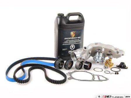 ES#2642884 - 94410515704KT81 - Ultimate Plus Timing Belt Kit With Water Pump - Features Gates Racing kevlar timing belt for added dependability - Assembled By ECS - Porsche
