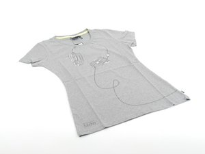 ES#2597004 - 80142294673 - Ladies Headphones Tee Gray - Medium - MINI style in a T Shirt - Genuine MINI - MINI