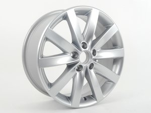 "ES#2600281 - 5K0601025AN8Z8 - 17"" Porto - Priced Each  - 17""x7"" ET54 5x112 - Diamond Silver - Genuine Volkswagen Audi - Volkswagen"