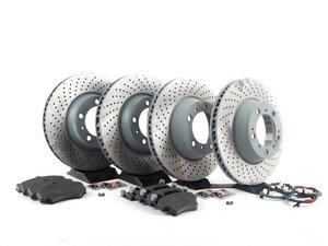 ES#2598693 - 99635140904OEKT3 - Front & Rear Brake Service Kit - Featuring Sebro rotors and Textar brake pads - Assembled By ECS - Porsche