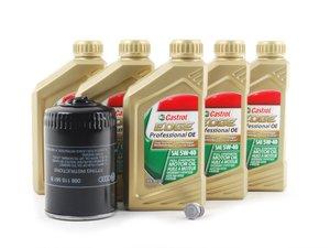 ES#2561235 - MK418TOEM -  Genuine Oil Service Kit - Includes large Genuine oil filter and Genuine 5w-40 oil - Genuine Volkswagen Audi - Volkswagen