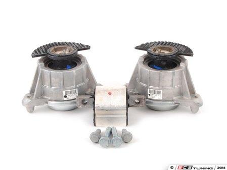 ES#2763761 - 2042404317KT - Drivetrain Mount Kit - Includes both engine mounts and transmission mount with hardware - Assembled By ECS - Mercedes Benz