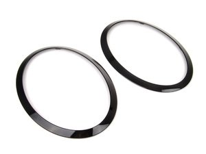 ES#2777412 - 51712355791KT - Headlight Trim Rings Jet Black - Set F55 F56 F57 - Upgrade to the jet black rings : left and right side - Genuine MINI - MINI