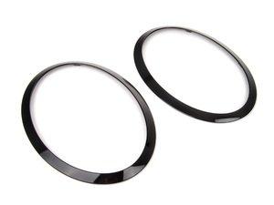 ES#2777412 - 51712355791KT - Headlight Trim Rings Jet Black - Set F55 F56 F57 - Upgrade to the jet black rings : left and right side - Genuine MINI -