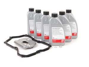 ES#2707677 - 09M325429 - 6-Speed Automatic Transmission Service Kit - Without Service Tool - Save time and money with a transmission service kit from ECS. Includes Febi trans fluid, filter, and a pan gasket from OE suppliers. - Assembled By ECS - Volkswagen