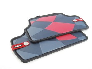 ES#2715090 - 51472354167 - Rear Rubber Factory Floor Mats Set JCW Pro - Priced As Set  - Replace or upgrade to factory MINI mats - Genuine MINI - MINI