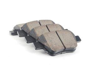 ES#2770771 - EUR1456 -  Rear Euro Ceramic Brake Pad Set - Ceramic composite developed to meet low dust & noise requirements - Akebono - Audi Volkswagen