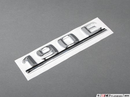ES#1719774 - 2018172015 - '190E' Emblem - Located on the trunk lid of your Mercedes-Benz - Genuine Mercedes Benz - Mercedes Benz