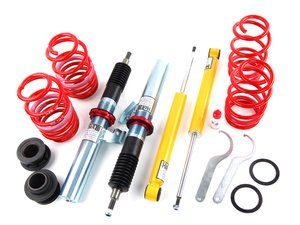 """ES#1876340 - 29000-11 - MK6 Golf / GTI Ultra Low Coilovers - Ultra Low for the extreme enthusiasts. Average lowering of 1.6""""-3.1""""F 2.0""""-3.1""""R - H&R - Volkswagen"""