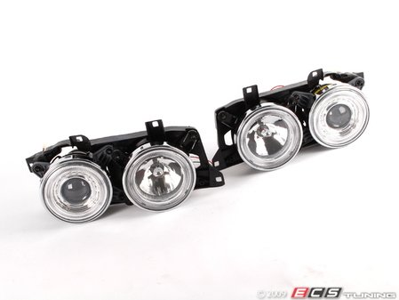 ES#10698 - FKFSBM055 - Angel Eye Headlights Chrome - Improve lighting & aesthetics with this Euro headlight kit with angel eyes for your E34 - FK - BMW