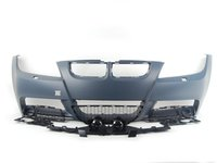 ES#2712733 - E90MTECHFT - M-Sport style Front Bumper Conversion  - Complete with bumper cover,fog lights and lower grilles - ECS - BMW