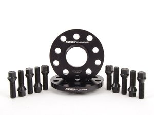 ES#2748256 - ECS1076ECSWBKKT - ECS Wheel Spacer & Bolt Kit - 12.5mm With Black Conical Seat Bolts - Complete kit for two wheels, comes with everything you need to install spacers on your aftermarket wheels - ECS - Audi Volkswagen