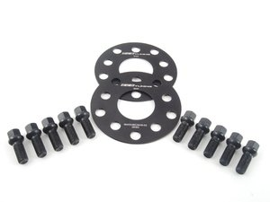 ES#2748238 - 06255571ECSWBKKT - ECS Wheel Spacer & Bolt Kit - 3mm With Black Ball Seat Bolts - Comes with everything you need to install spacers on two wheels - ECS - Audi Volkswagen
