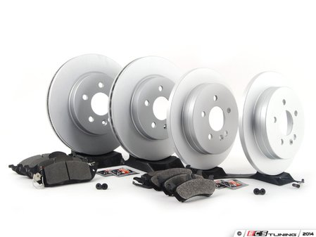 ES#2762541 - 1634230112KT13 - Front & Rear Brake Service Kit - Featuring Meyle Rotors And Pads - Assembled By ECS - Mercedes Benz