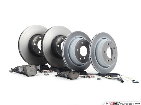 ES#2586935 - 34116757746KT1 - Front & Rear Brake Service Kit - Featuring Brembo Brake Rotors and Pagid Pads - Assembled By ECS - BMW