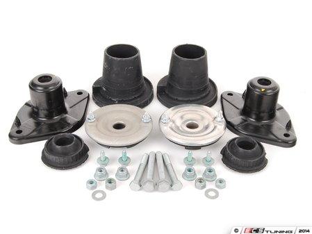 ES#2762203 - 4D0412377FKT5 - Cup Kit/Coilover Installation Kit - Includes shock/strut mounts, spring pads, and hardware - Assembled By ECS - Audi