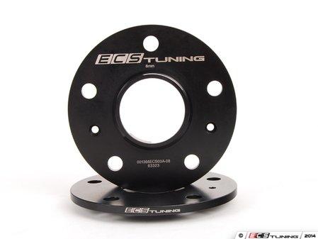 ES#2855674 - 001366ecs08KT2 - ECS Wheel Spacers - 8mm - One pair of wheel spacers without lug bolts - ECS - Audi Volkswagen Porsche