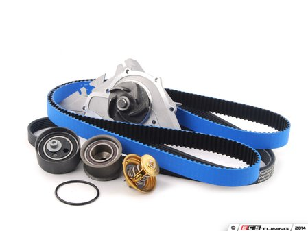 ES#2777124 - 078198479KT2 - Timing Belt Kit - Ultimate with Gates Racing Timing Belt - Complete kit to service your timing belt, water pump, and thermostat - Assembled By ECS - Audi